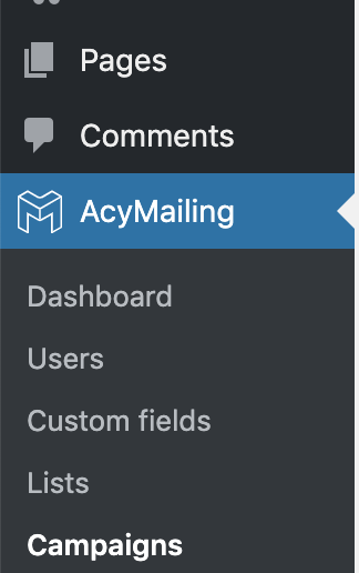 AcyMailing - New menu logo