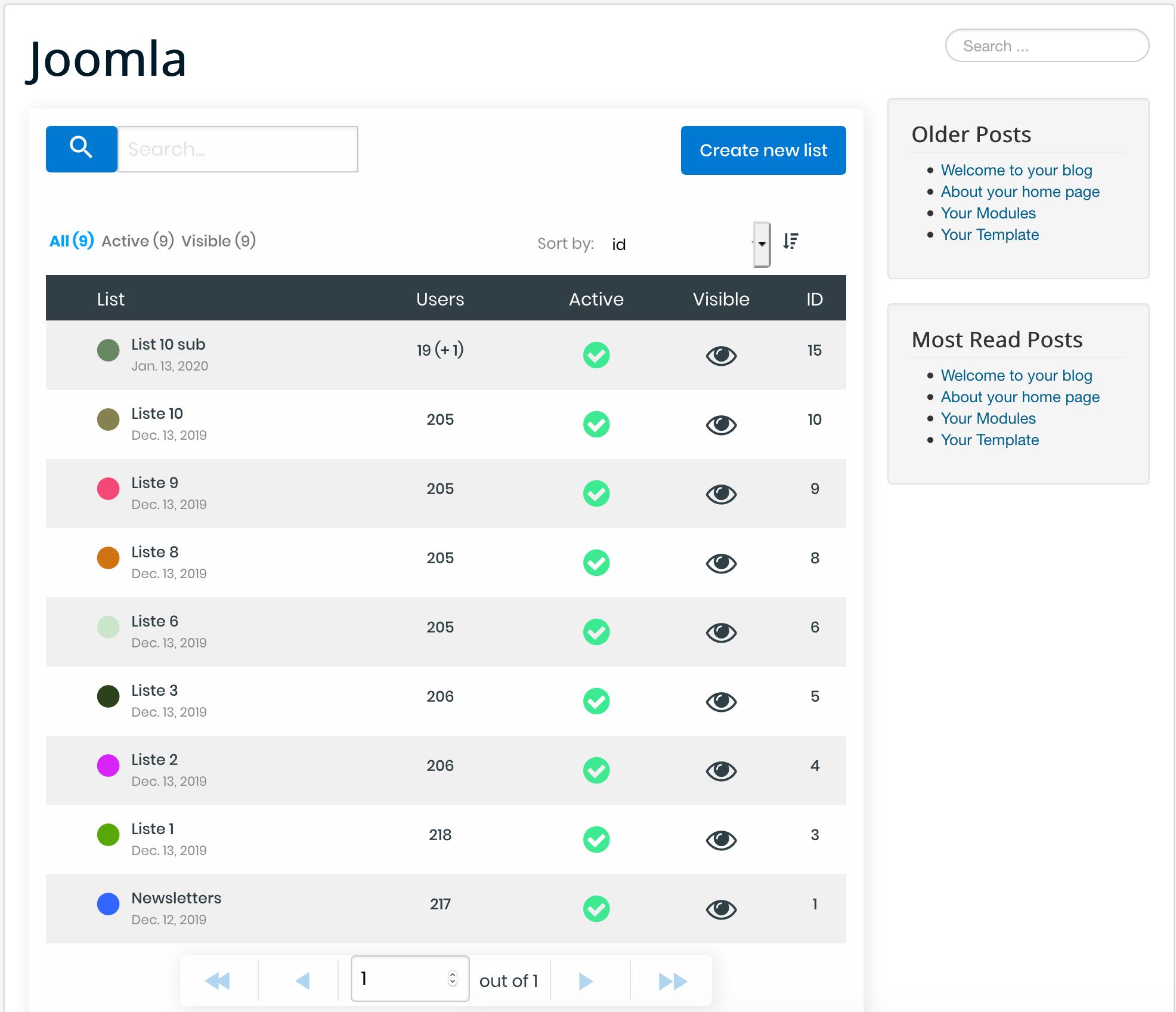 Joomla Front-end Management