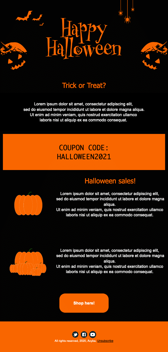 Template Halloween