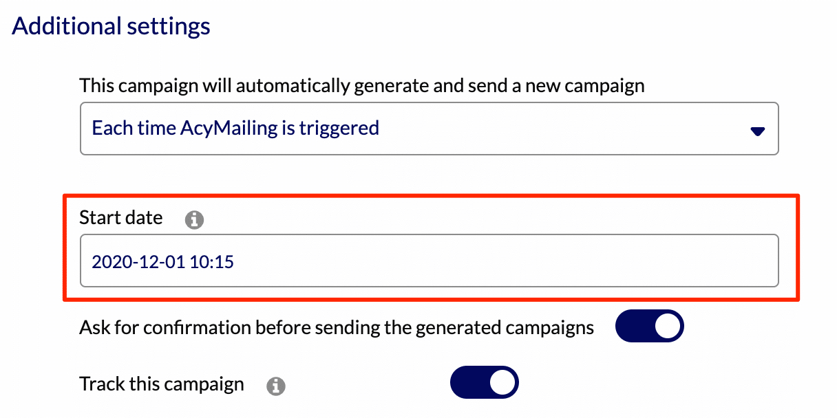 Choose When To Start Your Campaigns