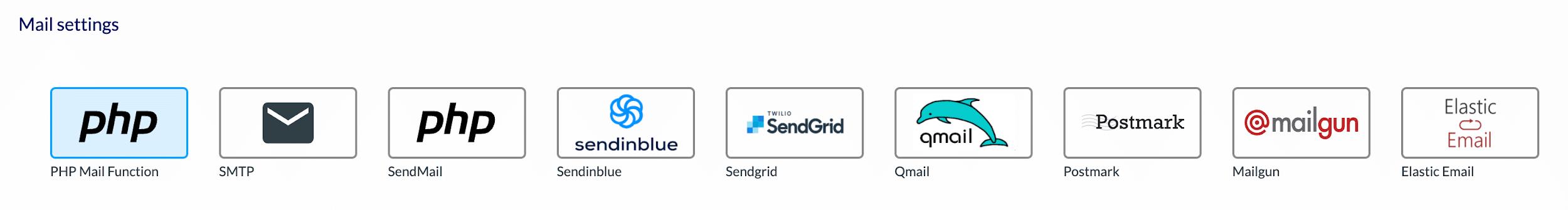 Integration External Sending Services