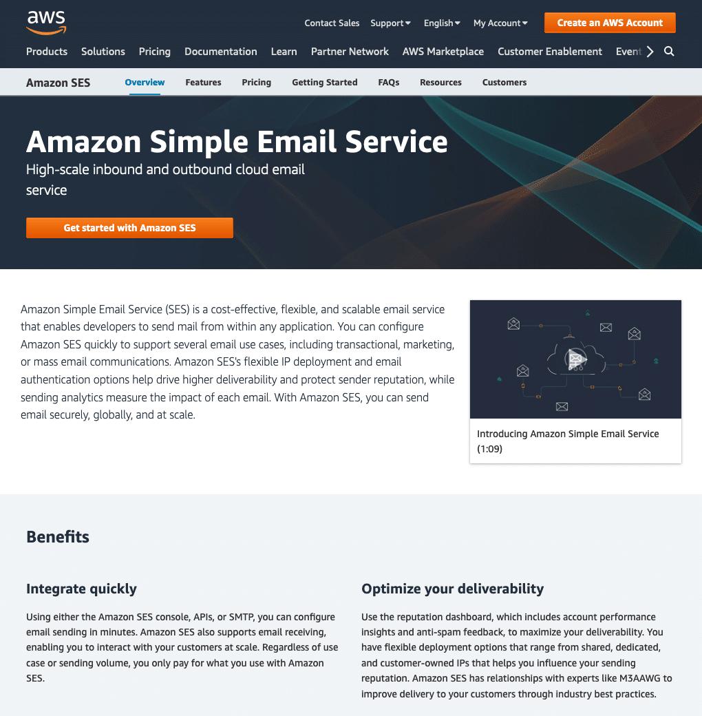 Amazon SES WordPress - Dashboard